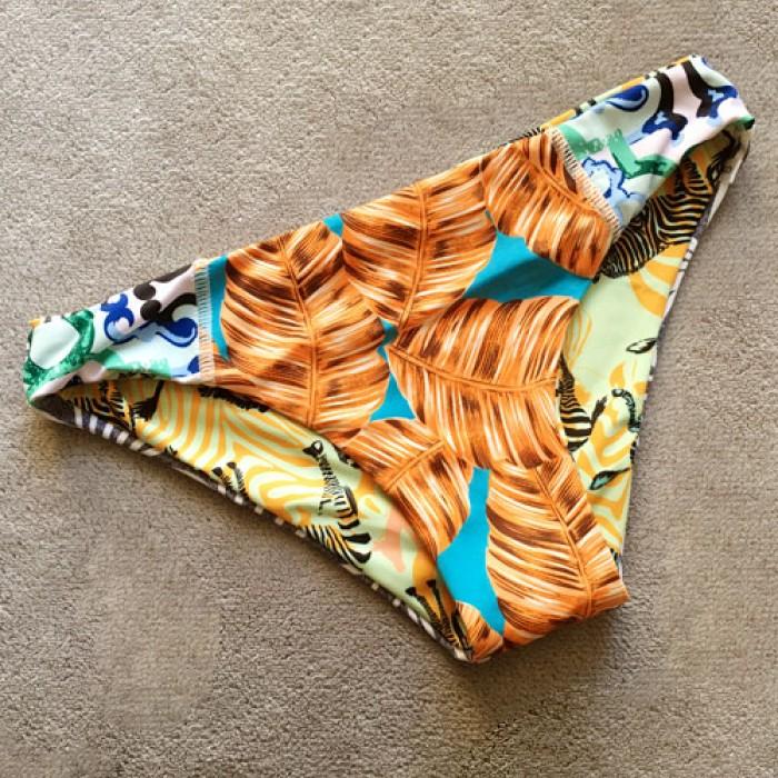 Bikini de doble cara de impresión de piña Sexy traje de baño Halter Top bañador traje de baño