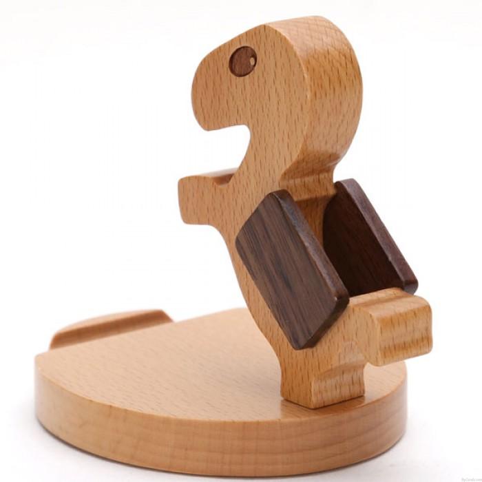 Práctico regalo lindo caballo de madera teléfono móvil titular