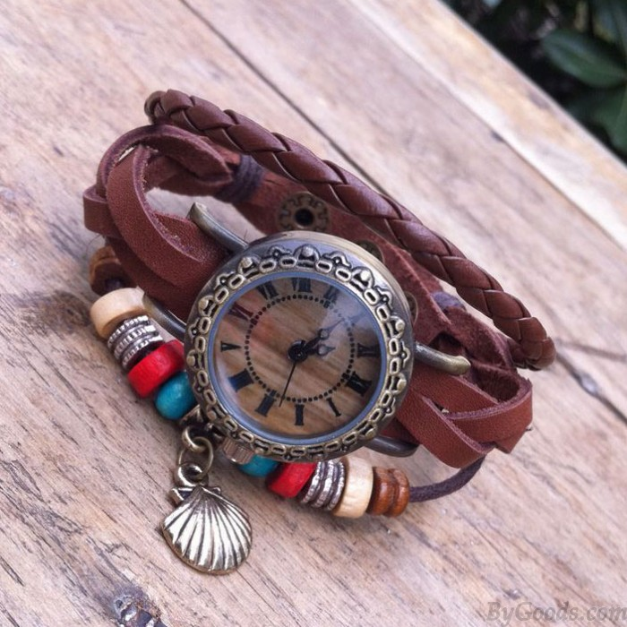 Original-Folie Seile Leder Armband Uhr