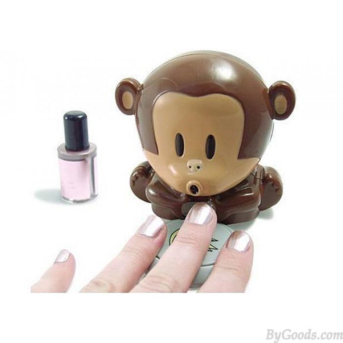 Lustiger Schlag-Affe-Nageltrockner