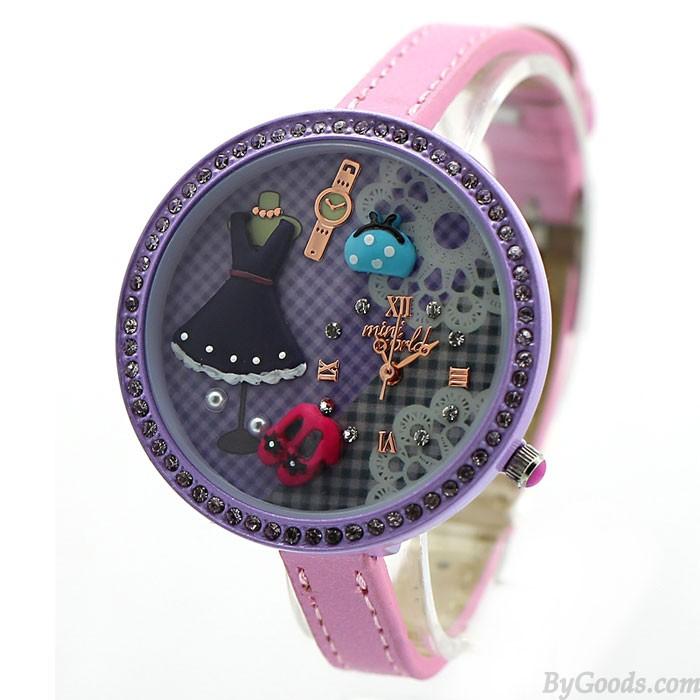 Lila Niedlich Princess Leben Polymer Lehm Uhr