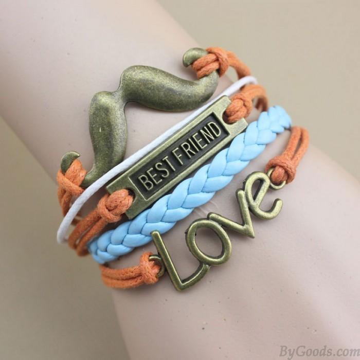Bester Freund Liebe Bart Infinity handgewebte Armband