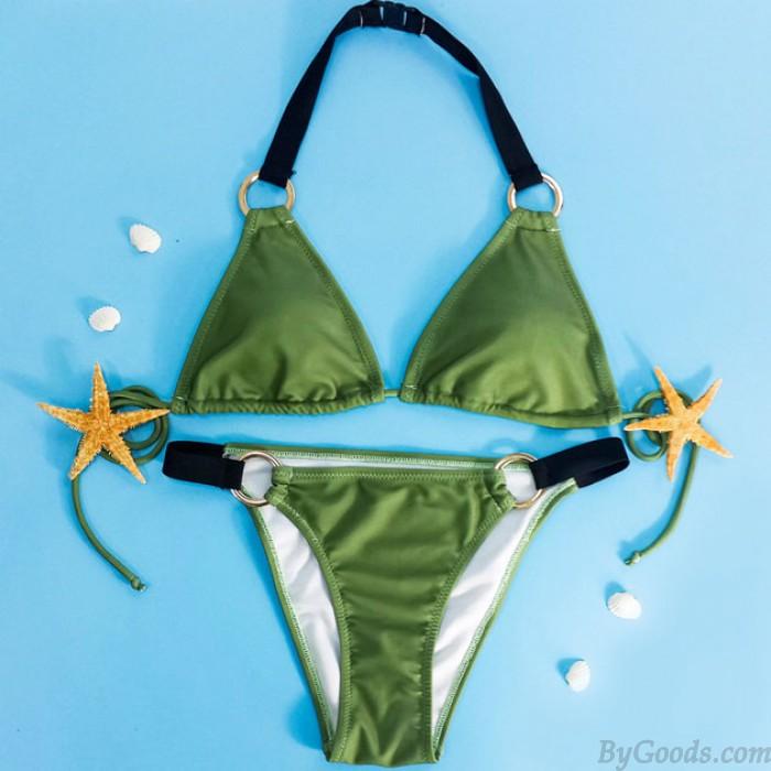 Halfter Bikini-Set Bademode Strand Badeanzug Badeanzug Für Mädchen