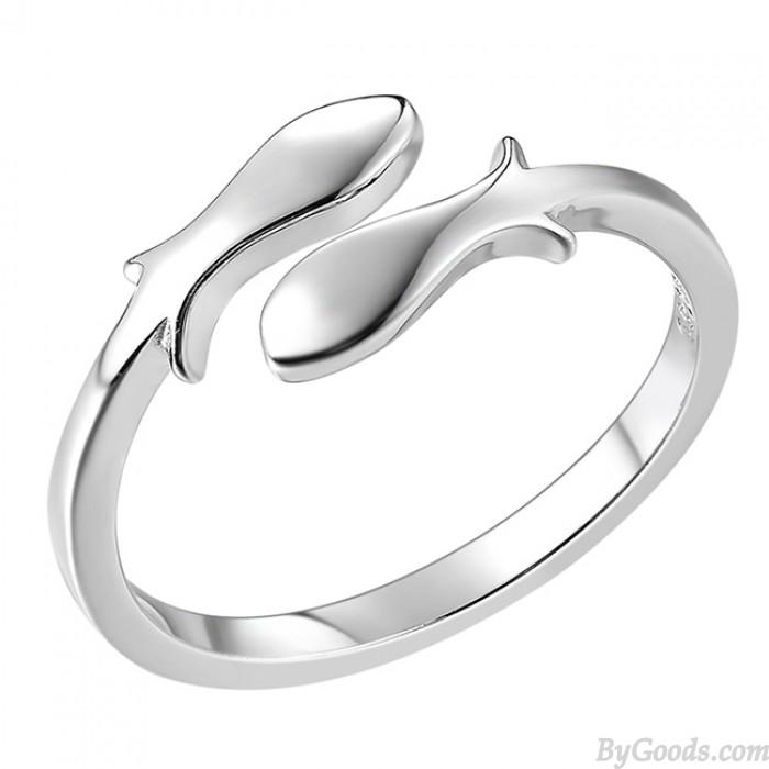 Sternbild Fische Silber Fertigstellung Polieren Öffnen Ring