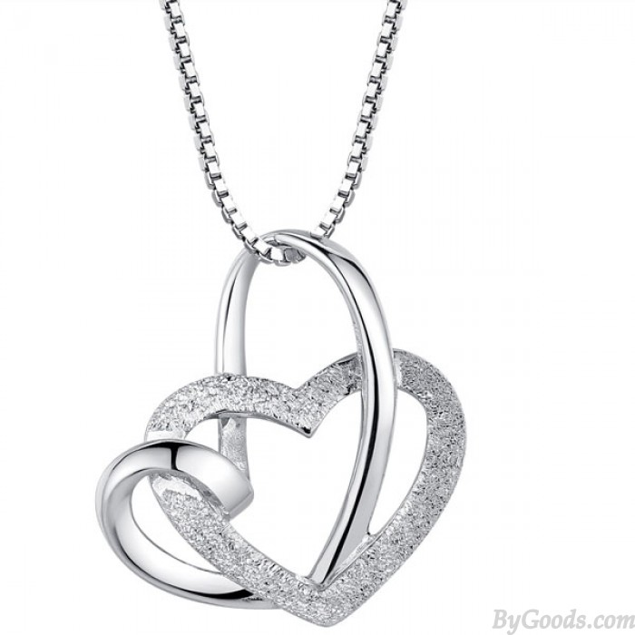 Elegant Twined Herz Förmigen Silberanhänger