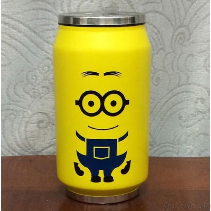 Geschenk-Cartoon-Cola-Dosen-Edelstahl-Vakuumschale