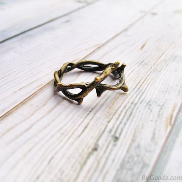 Kreativ Blume Rebe Zweige Handgemachtes Ring