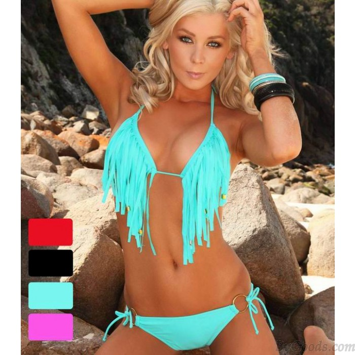 Hot Sexy Quaste Strap Bikini und Badeanzug
