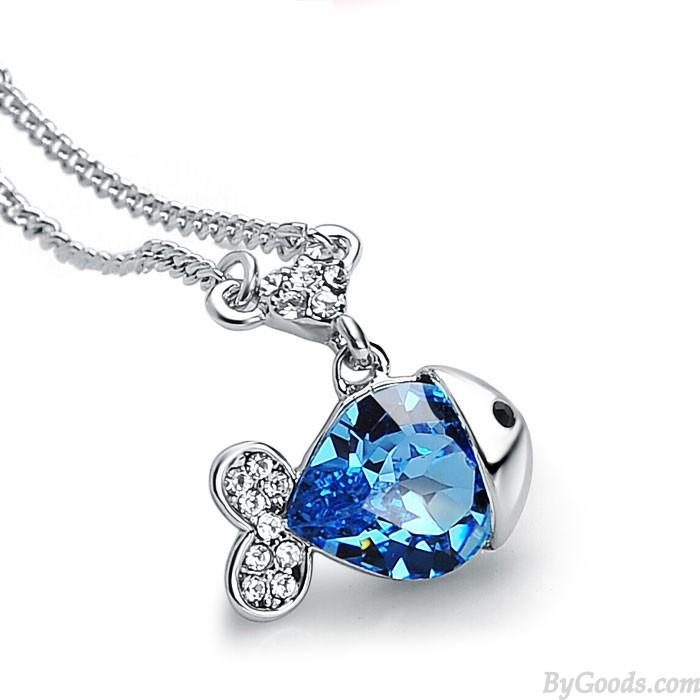 Leuchtenden Quallen Kristall Halskette