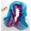 Blau Fix Lila Tie-Dye Gradient Unendlichkeit Schal