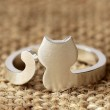 Original-Cat Tiermuster-S925 Silber-Öffnungs Ring