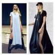 Einzigartige Seitenschlitzen kurze Hülse Langes Kleid
