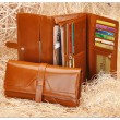 Hochwertiges Leder Lange Brieftasche Clutch