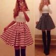 Schlank Reizvoller Streifen gefaltete Kleid Prinzessin verkleiden