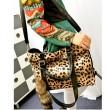 Neu Mode Fuchsschwanz Ornaments Leopard-Druck-Handtasche Schultertasche