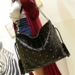 Einzigartige Black Skull Nieten Fransen Handtasche Schultertasche