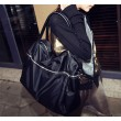 Mode Schwarz Zipper Handtasche Umhängetasche