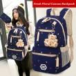 Blumendruck Leinwand Studenten Schultasche Rucksack