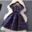Art- und Weisedrucken-Wellen-Punkt-dünnes Kleid