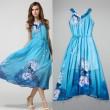 Edle elegante Schneeflocke Velvet Pfau Kleid
