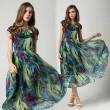 Bunte Retro- Art- Malachitgrün Chiffon-Kleid