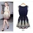 Frische Neue Bohemia drucken Stil Kleid