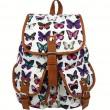 Freizeit-Schmetterlings-Druck-Frauen-Rucksack zwei Taschen-Stult-Beutel Segeltuch Rucksack