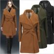 Minimalistisch Stil Taille Gurt Rein Farbe Wolle Mantel Winter Mantel Windjacke