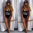 Versammeln Schlank Zum Frau Sexy Drucken Badeanzug Siamese Bikini