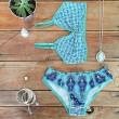 Fantasie Vogel-Druck Badeanzug Bikini Set Bademode