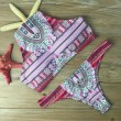 Schürze Volk Gedruckt Bikini-Set Bademode Halfter Badeanzug Badeanzug