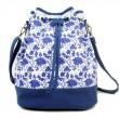 Original Mode Segeltuch Blau Weiß Reise Tasche Löffel Tasche Rucksack