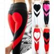 Sport Mädchen zwei Farben Herz Spleißen zeigen angehobenen Gesäß Stil Yoga dünne Legging