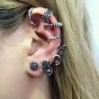 Punk Palms Mond asymmetrische Ohrringe kreative böhmische Ohrringe Clips Stud Set