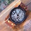 Retro Unregelmäßige Digitale Lustige Leder Uhr