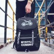 Freizeit Pure Farbe Spinne Fahrrad Reise Student Tasche Canvas Rucksack
