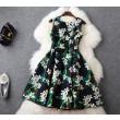 Frisches Stil 3D-Druck Organza dünnes Kleid