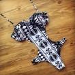 Einzigartige Badeanzug Geometrische Druck Schwarzweiss -Bikini One Piece Bademode