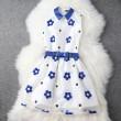 Elegante Stickerei-Bogen-Gurt-Kleid / Partei Kleid