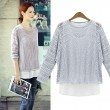 Fashion Blue - Hollow Out - Zweiteiliger Pullover