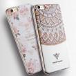 Rose Blumen Dreieck Totem gemalt Relief Silikon Frische IPhone Cases 6