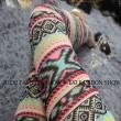 Mode Mädchen Böhmischer Stil Muster Netz Dünn Sonnenblocker Neunte Leggings