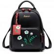 Blumen-Stickerei PU-Schulrucksack des einzigartigen Mädchens