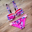 Lattice Printing Bikini-Set Strand Bademode Frauen-Badeanzug