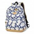 Frauen-Mädchen Frische Weinlese-nette Blumenblumen-Schule Campus-Tasche Leinwand- Rucksack