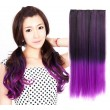 Farbiger bunter gerader Haareinschlagfaden