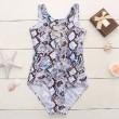 Snakeskin Printed Bademode Cross Strap Bikini Set einteiliger Badeanzug