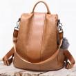 Leisure Oxford Vertikale Streifen Multifunktionshandtasche PU Reisetasche Rucksack