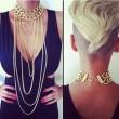 Punk übertrieb Stilvolle reizvoller Troddel Schmucksache-Strickjacke Halskette
