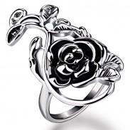 Retro Persönlichkeit Rose Pattern Ring Valentine Gift